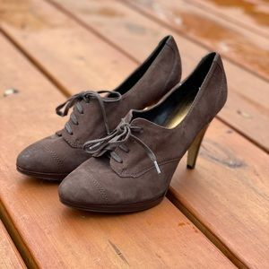 Like New! Nine West | 7.5 | Suede Lace up Heels
